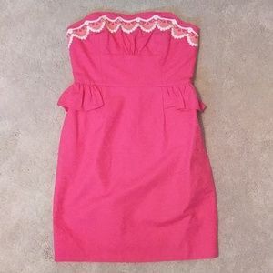 Lilly Pulizter strapless pink dress